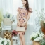 XL777ชุดเดรสผ้า Canvas พื้นส้มลายดอก แต่งปก กระเป๋า ติดโบว์ ผ้าสีขาว เพิ่มความน่ารักให้กับชุด thumbnail 9