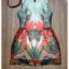 Leaf print dress with necklace set by Sweet Bunny thumbnail 5