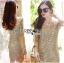 Lady Ribbon's Made Lady Nicole Sophisticated Golden See-through Laser-cut Sequin Dress thumbnail 4
