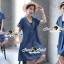 Seoul Secret Say's .... Sequinny V Furnish Denim Dress thumbnail 6