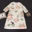 Korea Design By Lavida sweety floral printed feminine cream dress thumbnail 7