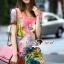 Seoul Secret Say's... Fairly Lanla Color Dress สีชมพู thumbnail 1