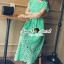 Seoul Secret Say's... Luxy Princess Lace Maxi Dress สีเขียว thumbnail 2