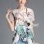Seoul Secret Say's... Peafowl Saphire Tonely Printed Dress thumbnail 3