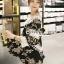 Seoul Secret Say's... Knitty Black Laf Beachy Dress thumbnail 4
