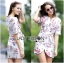 Lady Ribbon's Made Lady Pam Feminine Chinese Blossom Printed Dress thumbnail 1