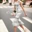 Seoul Secret Say's... Nifty Table Knity Dress สีขาว thumbnail 4