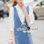 Seoul Secret Say's .... Roppy Pinstripe Denim Shirt Dress thumbnail 1