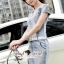 Seoul Secret Say's... Diamond Crystal Furnish Denim Dress thumbnail 4