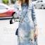 Cliona made' Ellisa Extra Used Cartoon Line Denim Dress Export Grade thumbnail 3