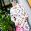 Cliona made' City Life Print Over Size Shirt Dress thumbnail 2