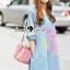 Seoul Secret Say's... Pastel Fink Paint Denim Dress thumbnail 3