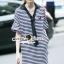 Seoul Secret Say's...Neck Tie Stipty Chic Chill Dress thumbnail 2