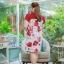 3 Size= XL,3XL,5XL ชุดเดรสสาวอวบ++ผ้า Korea Print จุดเด่นของชุดนี้อยู่ที่ลวดลายบนผ้า พื้นขาวลายกุหลาบแดง thumbnail 20