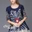 Seoul Secret Say's... Bloom Rope Stick Navy Dress thumbnail 5