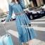 Seoul Secret Say's... Chic Denim Layer Maxi Dress thumbnail 4