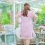 XL,2XL ,4XL, ชุดเดรสสาวอวบ++ ผ้าชีฟองฉลุลายสีชมพู นำเข้าจากญี่ปุ่น แขนชีฟองระบาย 2 ชั้น thumbnail 18