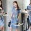 Seoul Secret Say's .... Fashly Girl Print Denim Dress thumbnail 6