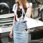 Seoul Secret Say's... Doggy Sequinny Chic Denim Skirt Set thumbnail 1