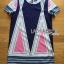 Lady Ribbon's Made Lady Elaine Minimal Graphic Line Printed Cotton&Polyester Dress thumbnail 5