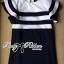 Lady Natasha Striped Dress in Navy Style thumbnail 4