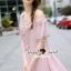 Seoul Secret Say's... Open Shoulder Pearly&Diamond Furnish Dress สีชมพู thumbnail 2