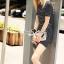 Seoul Secret Say's... Stripy Knit Chic Dress สีดำ thumbnail 2
