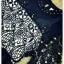 Sweet Bunny Present... Embroidery round brush chiffon Princess dress สีกรมท่า thumbnail 6