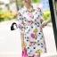 Cliona made' City Life Print Over Size Shirt Dress thumbnail 3