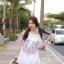 Korean ethnic stitching lace mini dress thumbnail 3