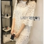 Lady Ribbon's Made Lady Delphina Classic Minimal Guipure Lace Dress สีขาว thumbnail 2
