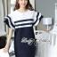 Lady Natasha Striped Dress in Navy Style thumbnail 1