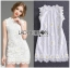 Lady Ribbon's Made Lady Christine Little Daisy Embroidered White Lace Mini Dress thumbnail 5