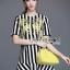 Lady Ribbon's Made Dolce & Gabbana Mini Yellow Embroidered Striped Dress thumbnail 3