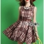 Lady Ribbon's Made Lady Cris British Elegant Check Printed Beige Dress สีเบจ thumbnail 1