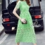 Korea Design By Lavida high quality luxury green lace long dress thumbnail 3