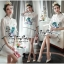 Luxurious White Silk Embroidered Shirt Dress thumbnail 4