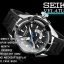 Seiko Men's Sport Kinetic Direct Drive Velatura TiCN Black Watch SRH019P1 thumbnail 3