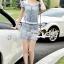 Seoul Secret Say's... Diamond Crystal Furnish Denim Dress thumbnail 7