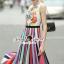 Seoul Secret Say's... Lollita Pleatly Color Flora Print Dress thumbnail 2