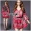 Lady Ribbon's Made Lady Estelle Summery Colourful Printed Chiffon Dress thumbnail 4
