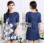 Lady Ribbon's Made Lady Elena Basic Insert Lace Denim Dress thumbnail 2