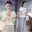 Sevy Moshino Pleat Chiffon Long Skirt thumbnail 8