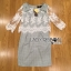 Lady Elizabeth Smart Casual Lace and Checked Cotton Dress with Ribbon thumbnail 6