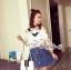 Sweet Bunny Present... Mixing Blouse Denim Skirt Set thumbnail 4