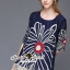Seoul Secret Say's... Bloom Rope Stick Navy Dress thumbnail 4