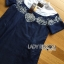 Lady Wendy Embroidered Denim Dress with Frilled Cotton Neck thumbnail 7