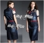 Lady Ribbon's Made Lady Olivia Urban Chic Rose Embroidered Denim Shirt Dress thumbnail 4