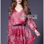 Lady Ribbon's Made Lady Estelle Summery Colourful Printed Chiffon Dress thumbnail 1