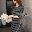 Lady Ribbon's Made Lady Julia Minimal Chic Striped Mini Dress สีดำ thumbnail 2